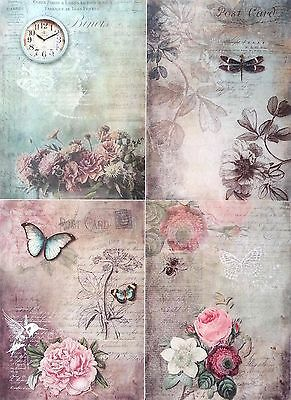 Rice Paper for Decoupage Decopatch Scrapbooking Sheet  Vintage  Magic Lands