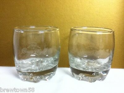 Crown Royal Canadian whiskey whisky mixed drink glass 2 glasses crowns nice PR6