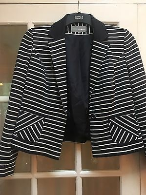 Marks And Spencer Mixed Blue Jacket Size 14