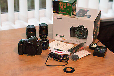 Canon EOS 6D 20.2MP Digital SLR Camera - Black - Plus Three Lens and Extra's