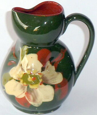 Early Watcombe Torquay Devon barbotine floral decorated pitcher jug creamer