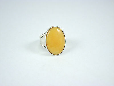 Carolyn Pollack Sterling Silver Yellow Jasper Ring Size 8