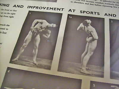 old 1930's? Gym keep fit bodybuilding health exercise gay wall poster - by HOVIS