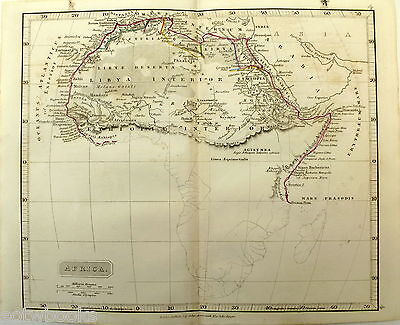 AFRICA - Original Antique Map of the Ancient World -   J  ARROWSMITH  - 1842.
