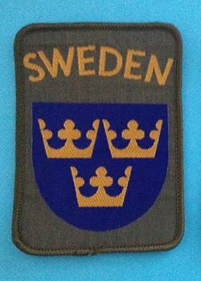 Sweden Shield Patch Hat Hippie Jacket Biker Vest Backpack Travel Crest Patch