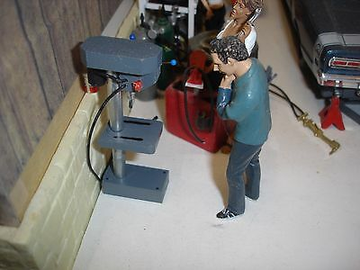 1/18 SCALE - Drill Press  for YOUR SHOP/GARAGE/DIORAMA - NONWORKING