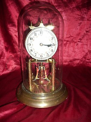 Antique Vintage  Forest Anniversary Clock Germany Metal