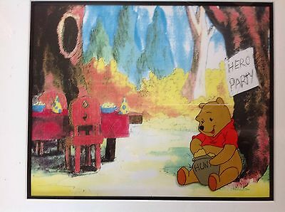 Winnie the Pooh Production Cel and Background (Framed)