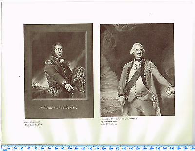 General MacGregor & Charles 1st Marquis Cornwalli Antique Military Picture Print