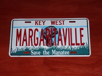 """Margaritaville / Key West / """"save The Manatee"""" - Car License Plate"""