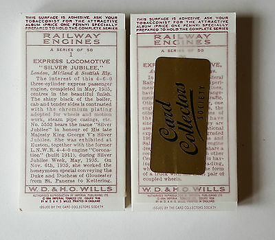 Wills RAILWAY ENGINES - MINT SEALED - Set 50 Cards COLLECTORS SOCIETY REPRINT