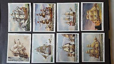 Players OLD NAVAL PRINTS (large) 1936 - 20/25 Cigarette Cards PART SET