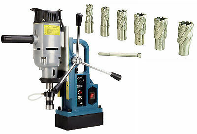 """Steel Dragon Tools® MD45 Magnetic Drill Press with 7pc 1"""" Small HSS Cutter Kit"""