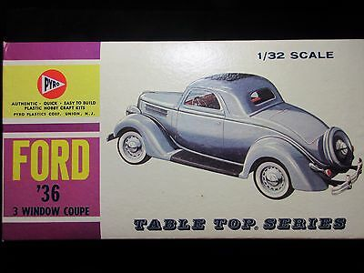 Vintage Pyro Ford 36 3 window coupe 1/32 scale  1960s kit