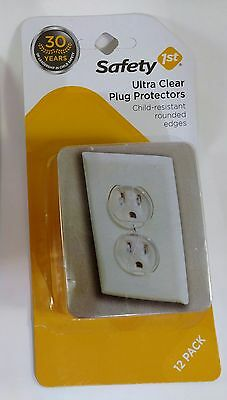 Safety 1st Ultra Clear Outlet Plugs Child-Resistant Rounded Edges Pack of 12