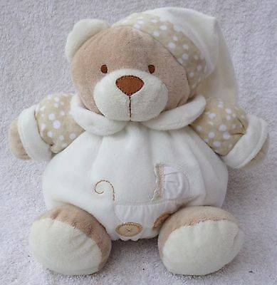 Special Delivery TMJ White Teddy Bear Baby Hug Comforter Rattle Soft Plush Toy