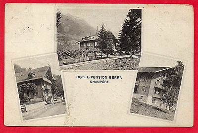Cpa - Europe - Suisse - Champery - 1913 - Hotel - Pension - Berra -