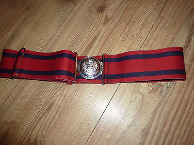 Royal Engineers Stable Belt With Silver Metal Buckle