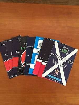 9 Scotland v Wales Rugby International Programmes ranging from 1959-1991
