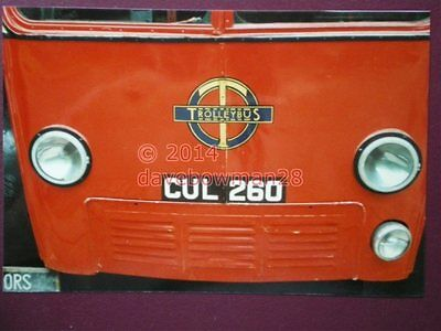 Photo  London Trolley Bus Cul 260 Number Plate