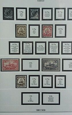 german colonies stamps Kamerun mint. used valuable collection