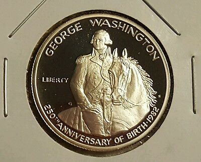 1982 S George Washington Proof Commemorative Half Dollar 90% Silver..Frosty DCam