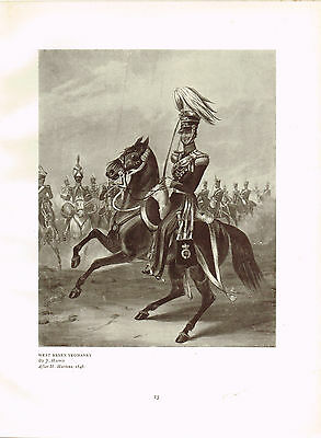 West Essex Yeomanry Antique Military Picture Print
