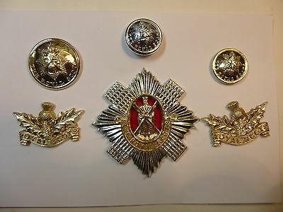 British Army Cap Badge, Collar Badges, Buttons The Royal Scots