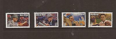 Usa 1997 Football Coaches Mnh Set Of Stamps