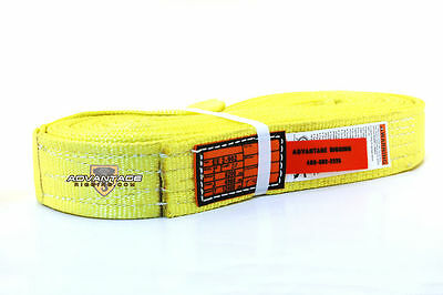 EE2-902 X20FT Nylon Lifting Sling Strap 2 Inch 2 Ply 20 Foot USA Package of 4