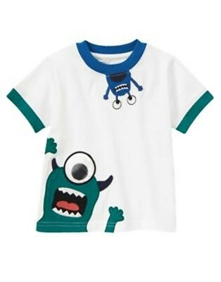 NWT 3-6 Months Gymboree SPACE VOYAGER Ehite S/S Monster Tee Top Shirt