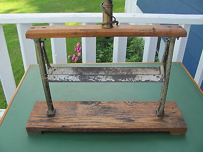 Vintage Country Store Paper Roll Holder for Wrapping Merchandise Butcher Baker