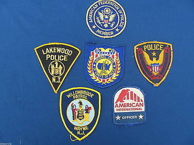 Vintage Police Security Patches New Jersey and Others Chief