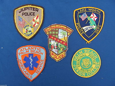 5 Vintage Police Security Patches Florida Lot 3