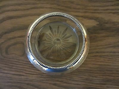 Vintage Frank M. Whiting & Co. Sterling Silver Glass COASTER