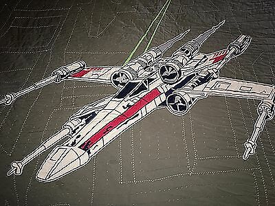 Pottery Barn Kids x-wing & TIE fighter TWIN QUILT Star WARS