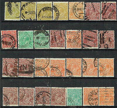 Australia 28 used KGV heads to 4d