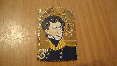 James Clark Ross 1800 - 1862 3p postage stamp new and unused