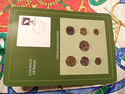 Coin Sets of All Nations Mexico 1985-1988 UNC 1,5,10,50,100 Pesos 1987 500P 1988