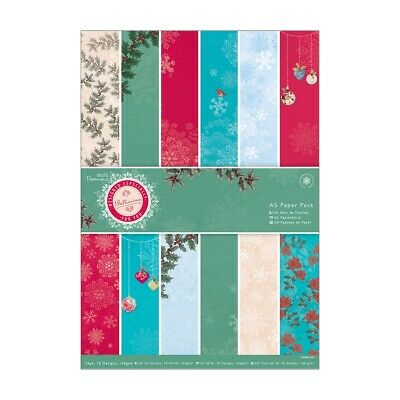 Docrafts Papermania A5 Paper Pack (36 Blatt) - Bellissima Christmas