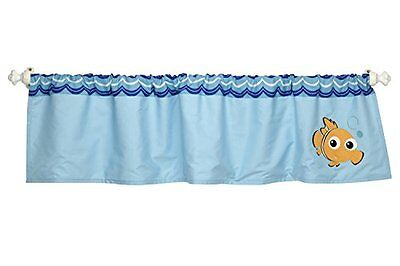 Disney Baby Bedroom Bedding Finding Nemo Wavy Days Window Valance Washable, New