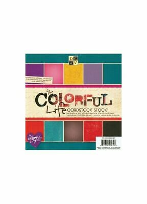 DCWV Cardstock stack colorful life with Glitter/Gloss 20,3X20,3cm, 48 Bögen