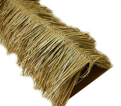 "12' Tiki Hut Bar Mexican Palm Thatch Ridge Roof Cap Roll 30"" x 12' Commercial"