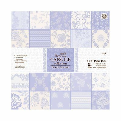 Docrafts Papermania 8 x 8 Paper Pack (32 Blatt) - Capsule Collection - French La