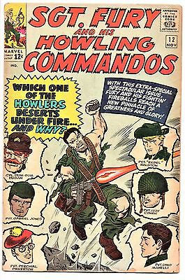 MARVEL COMIC Sgt Fury and His Howling Commandos (1963- 1981)   # 12 Very Good +