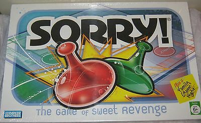 NEW SORRY! Sealed Parker Brothers Family Board Game Kids Hasbro Bros.2005 #TY36
