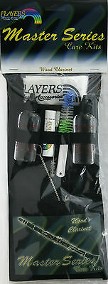 Master Series Wood Clarinet Care Kit Grease Oils Swabs Brushes Cloth Pouch