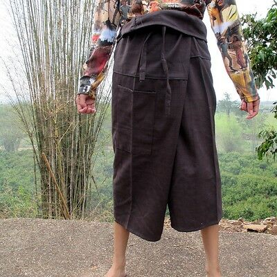 Pants Short Chenamai Cotton In Wenge Brown Everyday Casual sz S