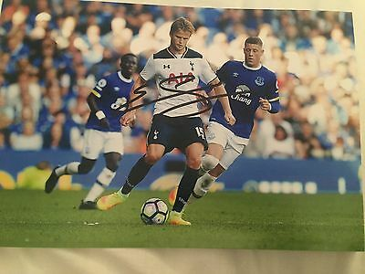 Eric Dier Tottenham Fc Hand Signed 12X8 Photo