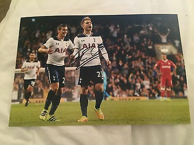 Christian Eriksen Tottenham Fc  Hand Signed 12X8 Photo